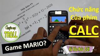 Chơi MARIO trên máy tính CASIO  FX580VNX edit by camtasia | TROLL | Chức năng của phím CALC