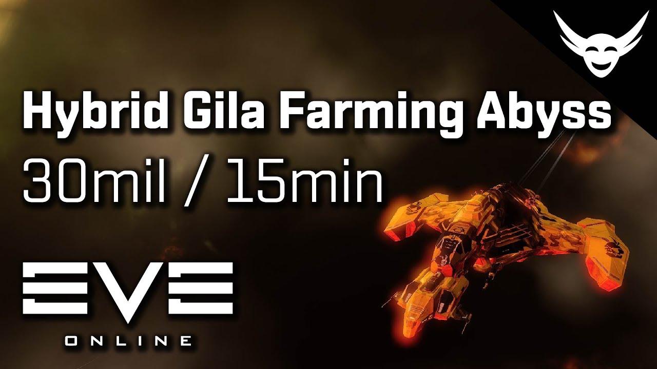 EVE Online - Hybrid Gila Farming T4 Abyss Firestorms EASY!