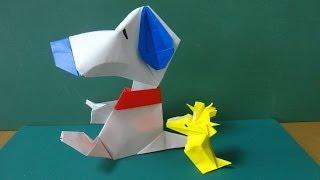 """折り紙「スヌーピー」体 Origami""""Snoopy""""Body"""