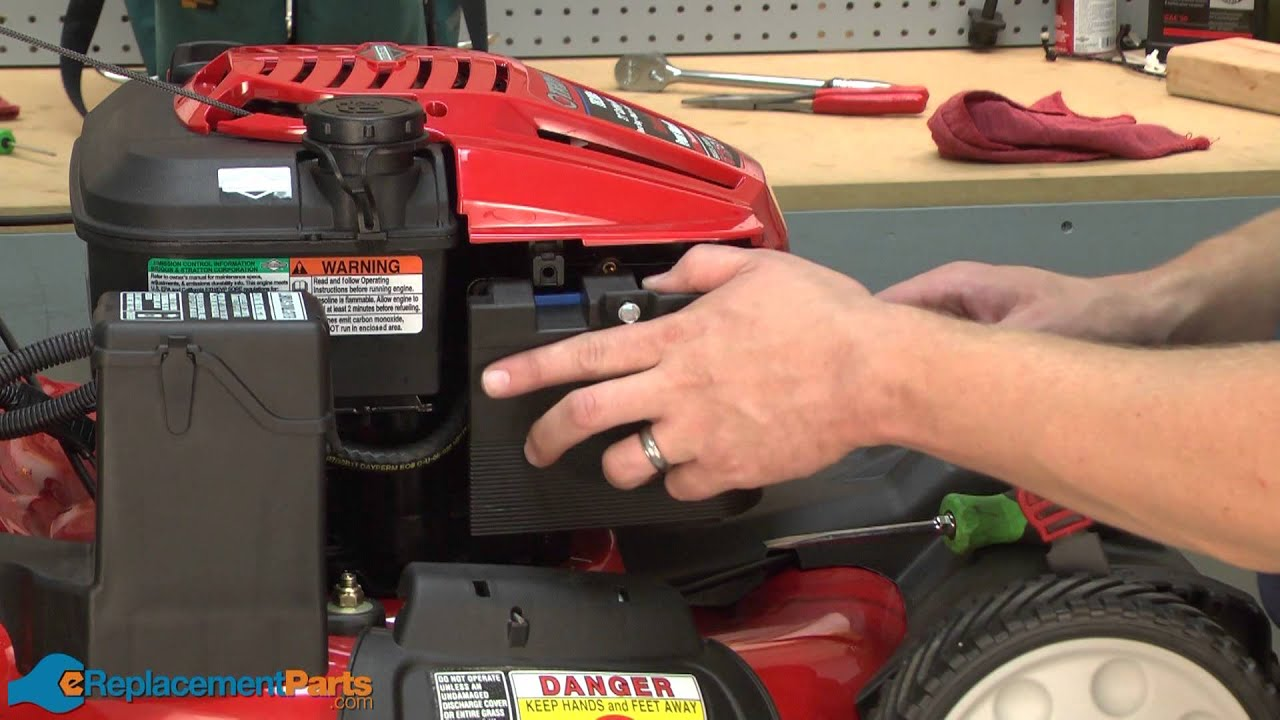 How to Replace the Air Filter on a TroyBilt TB280ES Lawn Mower
