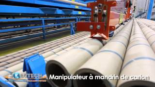 Solutech packaging systems, automated core handling systems