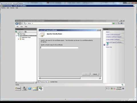 How to create a self signed certificate on a Windows 2008 R2 server ...