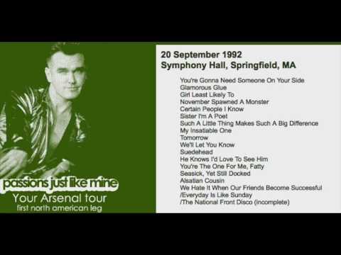 morrissey---september-20,-1992---springfield,-ma,-usa-(full-concert)-live