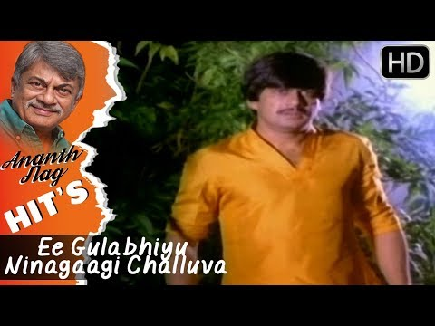 Ananth Nag Songs | Ee Gulabhiyu Ninagaagi Challuva Song | Mullina Gulabhi Kannada Movie
