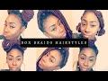 Very Easy Jumbo Braids Hairstyles 2017 | how to:Style | Box Braids | IAMTRAVIA