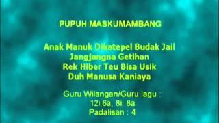 Lagu Sunda dengan Lirik | PUPUH MASKUMAMBANG