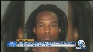 City employee charged with aggravated battery