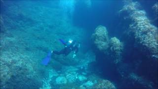 Scuba Diving in Mallorca, Cala Ratjada, Cala Lliteras, Mero Diving, Marble Cave, July 2016