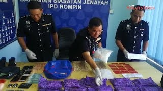 Rompin police nab four in Pahang's largest drug seizure this year