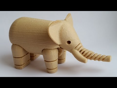 Wood Filament Review - 3D Printed Toy Elephant
