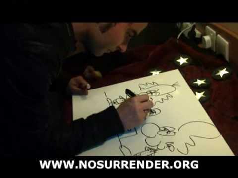 NO SURRENDER CHARITY  - PROUD GALLERY MUSICIANS ART ON CANVAS EXHIBITION PROMO 18 - 30 NOV 09