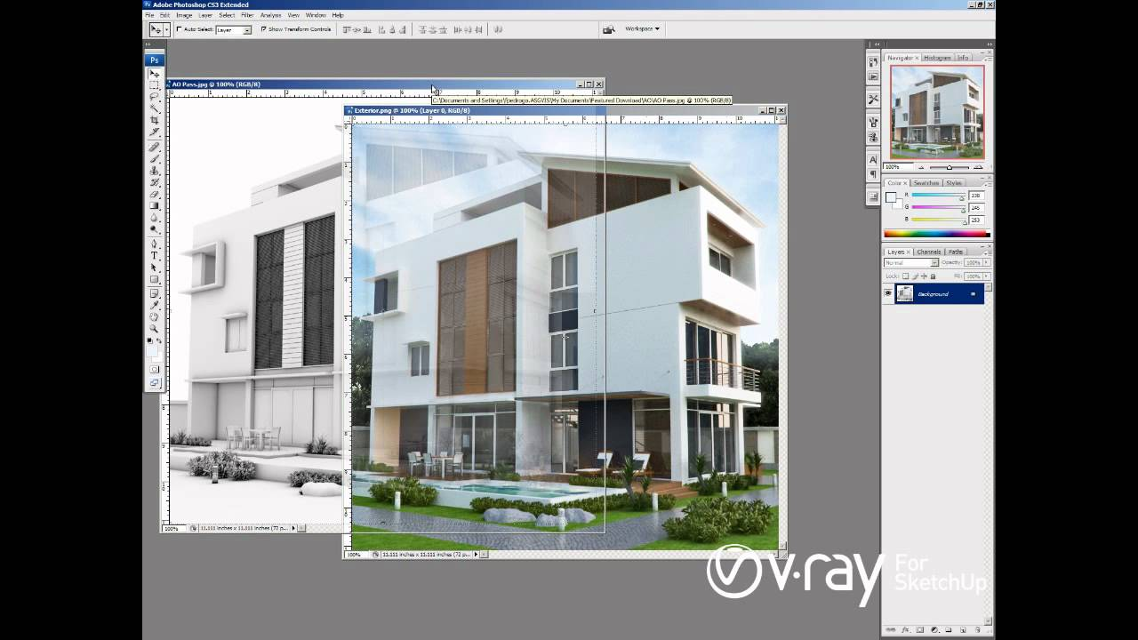 V ray for sketchup ambient occlusion tutorial youtube for Vray interior lighting rendering tutorial