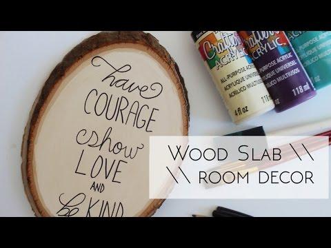 DIY Wood Slab Room Decor || Grace&TJ