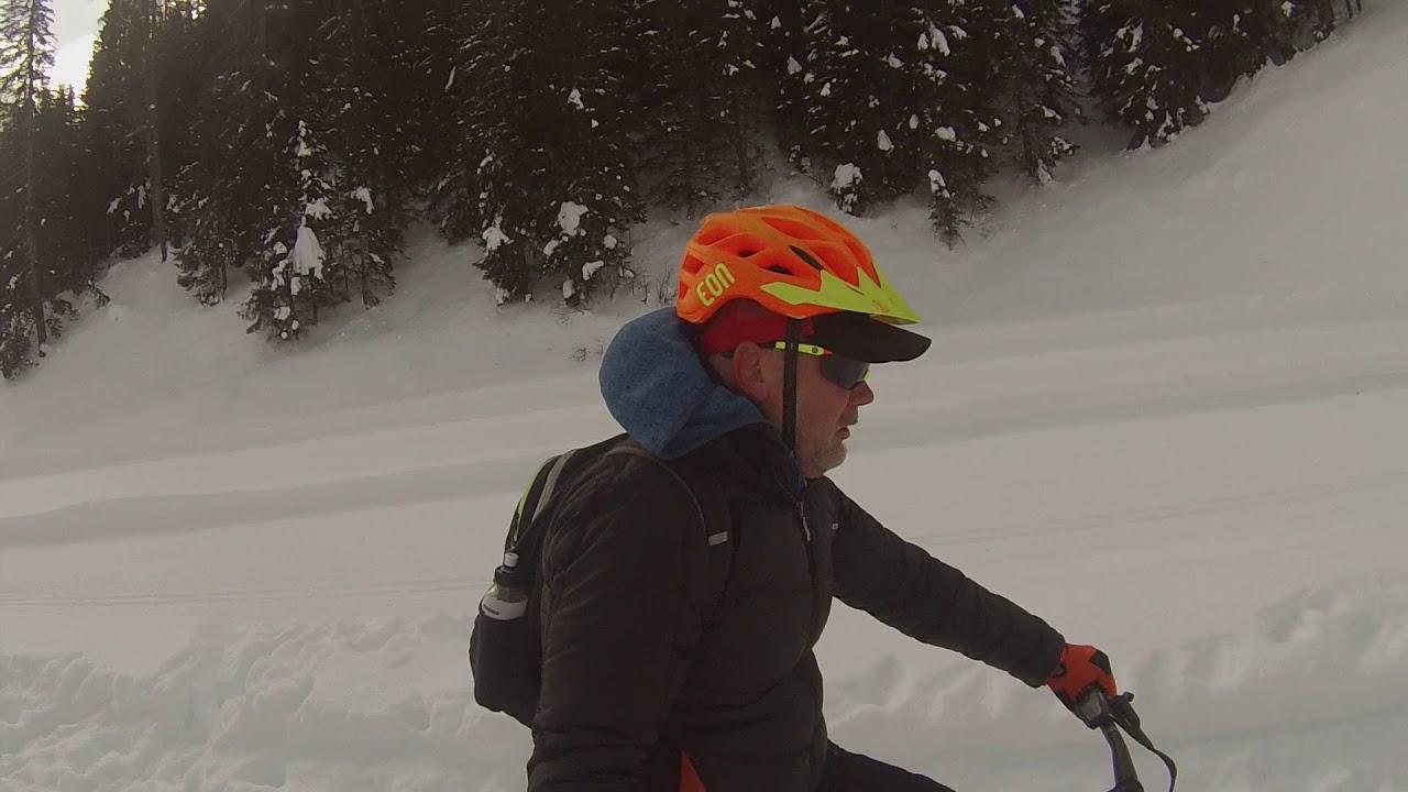 Da Selva di Cadore a Palafavera. In due ruote su FatBike Elettrica con Guida nelle Dolomiti.
