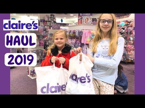 3ef4b8c83 HUGE Claire's Haul 2019! Makeup Haul, Squishy Unboxings