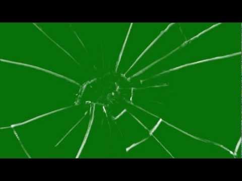 Glass Breaking Effect on Green Screen thumbnail