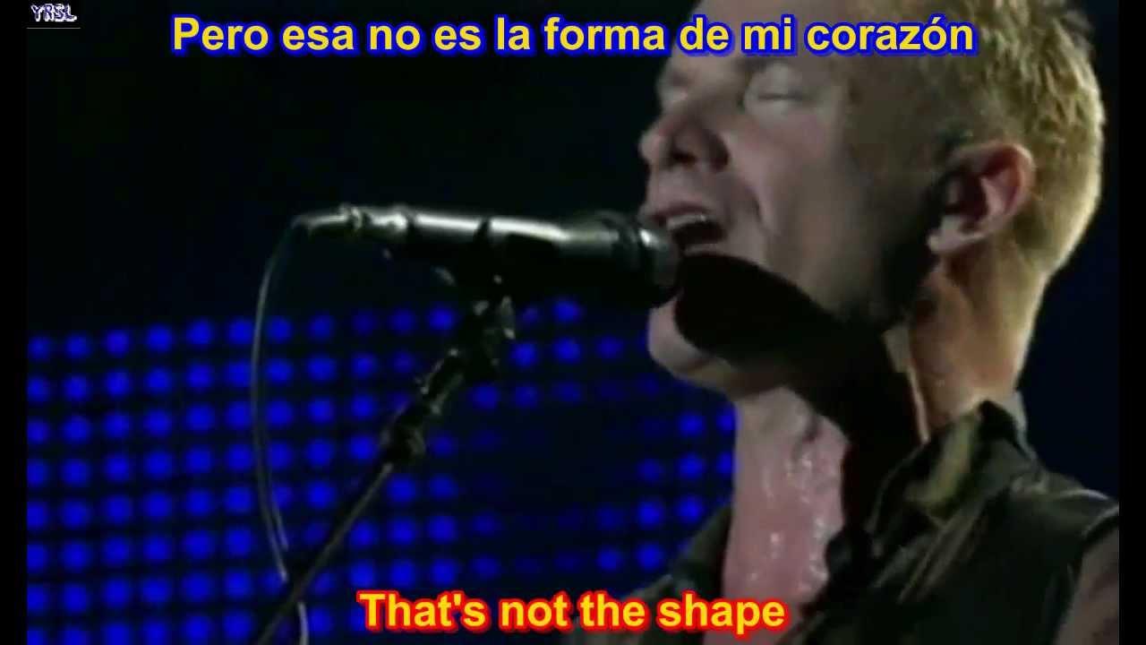 Sting - Shape Of My Heart ( SUBTITULADA EN INGLES Y ESPAÑOL SUB LYRICS )