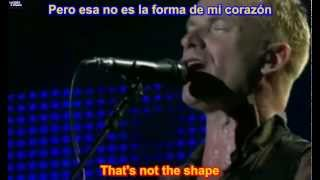 Sting - Shape Of My Heart ( SUBTITULADA EN INGLES Y ESPAÑOL SUB LYRICS )