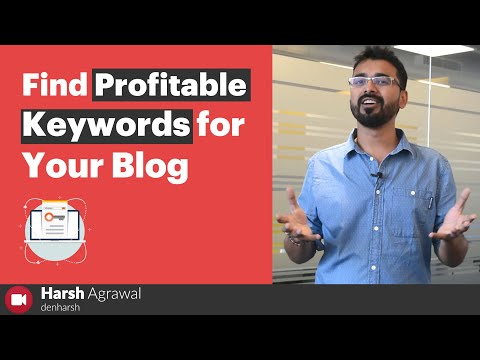 How To Quickly Find Profitable Keywords For Your Blog (Beginner's Guide)