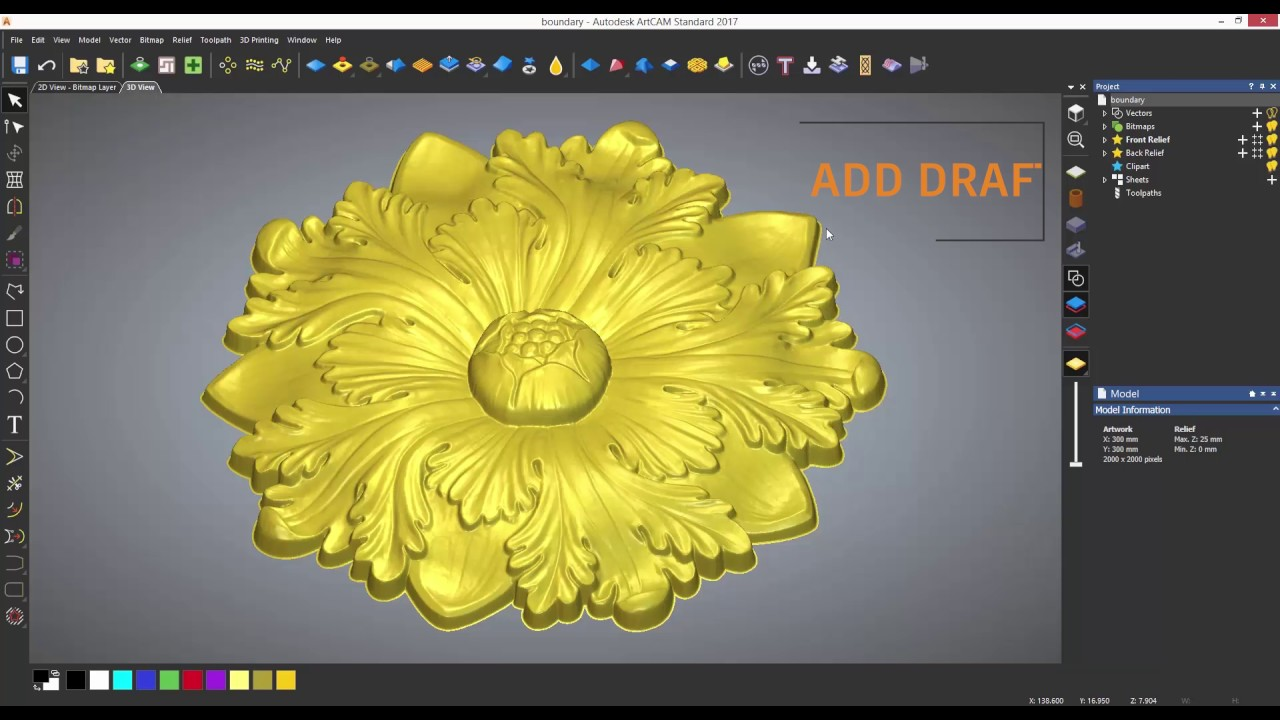 Artcam Standard Tutorials 4 5 Smoothing Scaling And