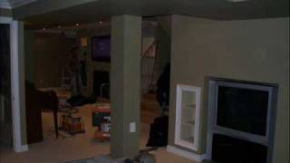 Basement Remodel And Custom Built In Wall Unit