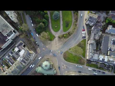 Flying above Harrogate Town Centre 4K with Mavic Pro