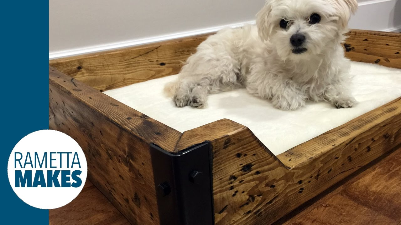 wooden dog bed plans