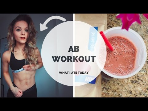 WHAT I ATE TODAY & MY AB WORKOUT // VEGAN BULK EP. 10