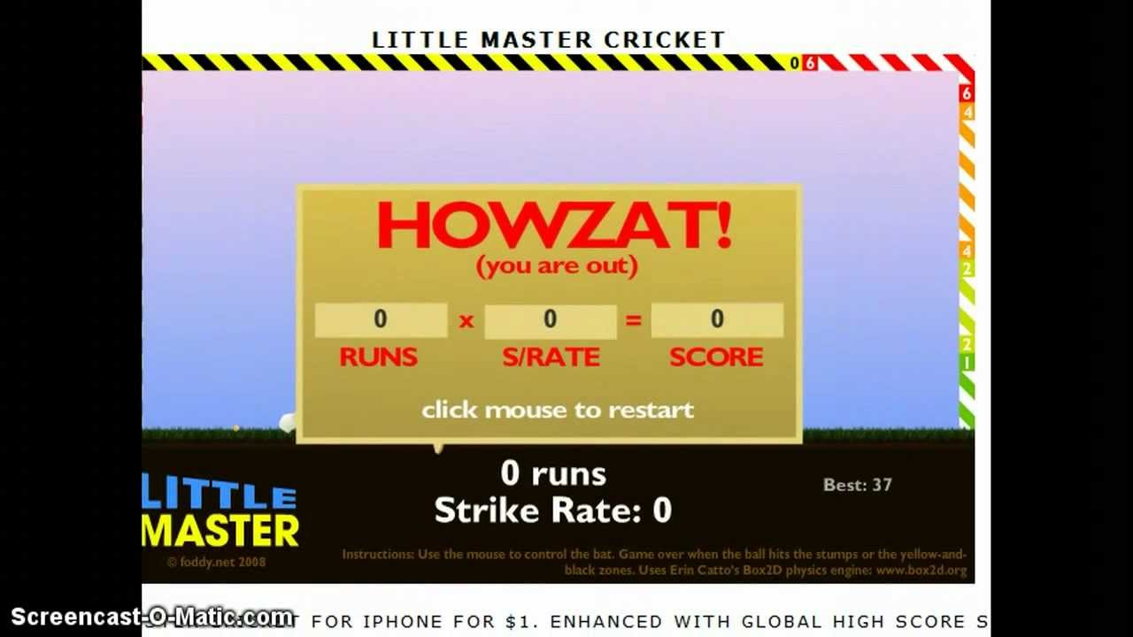 Little Master Cricket Gamplay