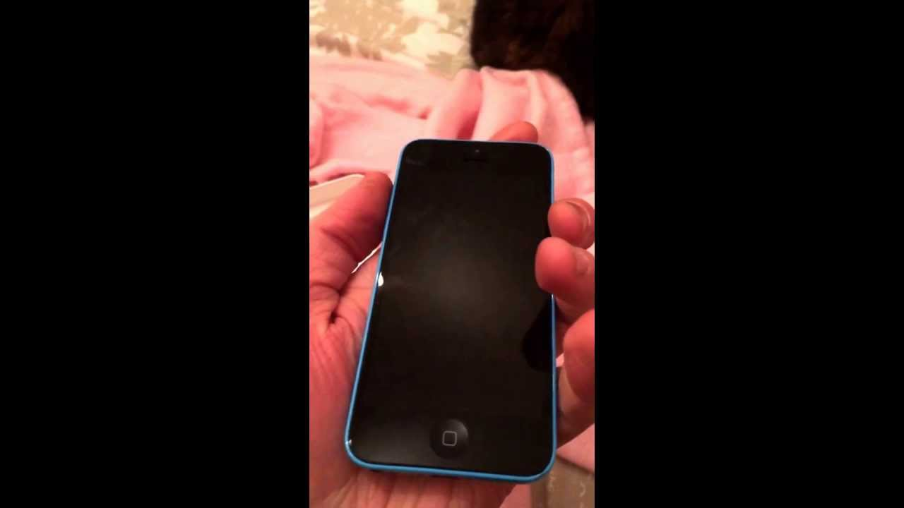 Iphone 5c Blue Unboxing And Setup