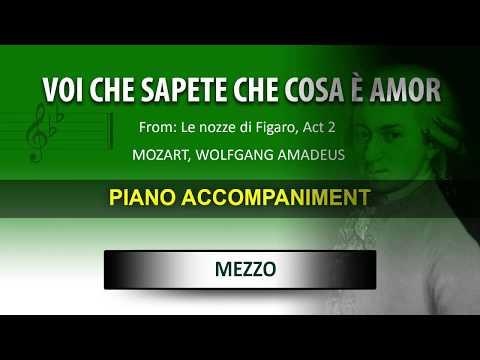 Voi che sapete / Mozart: Karaoke + Score guide / Mezzo soprano