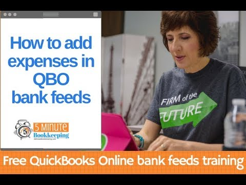 How to add expenses in QuickBooks Online Bank Feeds