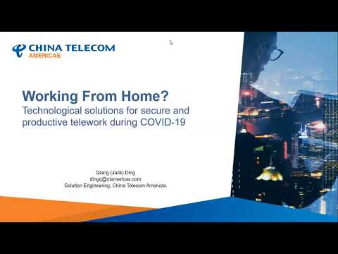 [Webinar] Working From Home? Technological Solutions For Secure & Efficient Telework During COVID-19