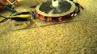 Simple Three Phase Pancake Motor Video #2