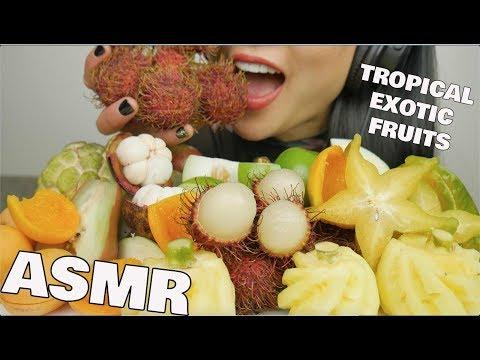ASMR TROPICAL EXOTIC FRUITS (EATING SOUNDS) NO TALKING   SAS-ASMR