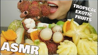 ASMR TROPICAL EXOTIC FRUITS (EATING SOUNDS) NO TALKING | SAS-ASMR