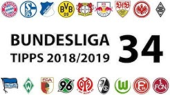 Bundesligatipps 34.Spieltag 2018/2019