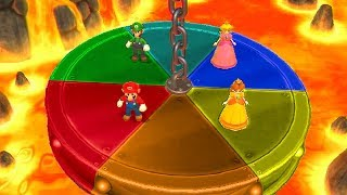 Mario Party 9 MiniGames - Luigi vs Mario vs Peach vs Daisy