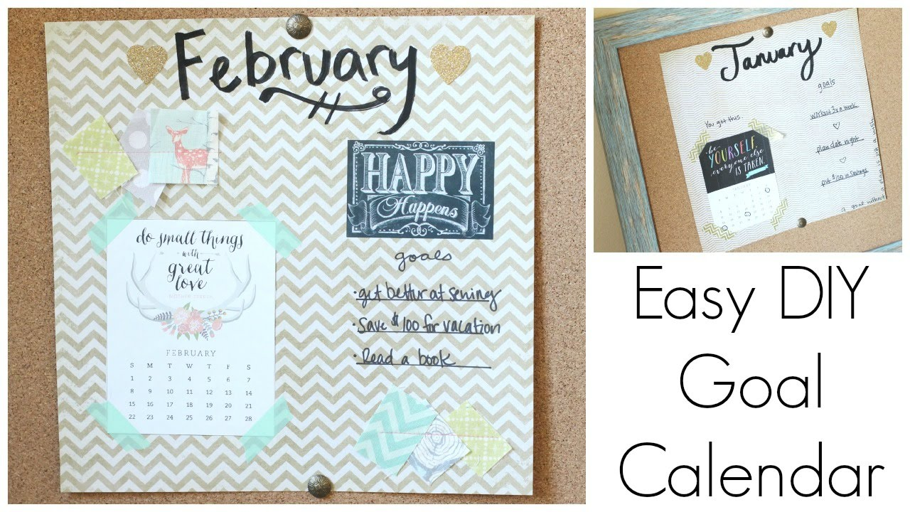 Goal Calendar Diy : Simple diy goal calendar back to budget basics youtube