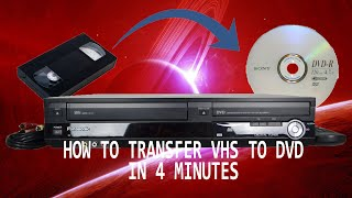 LEARN HOW TO RECORD VHS TO DVD IN JUST 4 MINUTES - VHS TO DVD TRANSFER TUTORIAL