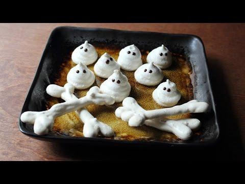 Meringue Bones & Ghosts - Crispy Meringue Halloween Candies