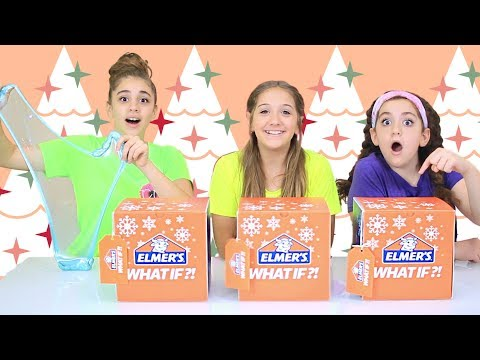 Holiday Mystery DIY Slime Challenge with Taylor & Vanessa!!