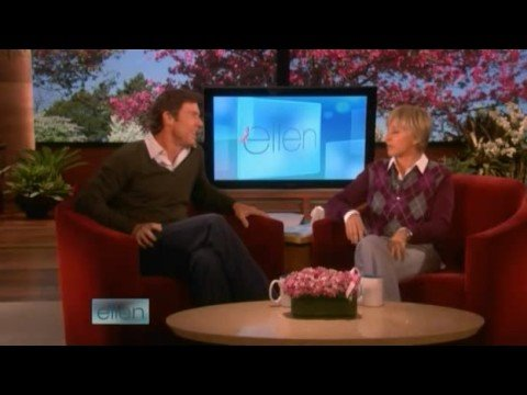 Dennis Quaid Interview on Ellen + Hidden Camera Prank 10/14/08 Part 1