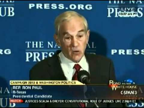 """Ron Paul at NPC Oct 5, 2011 """"We Need Our Brains Opened Up"""""""