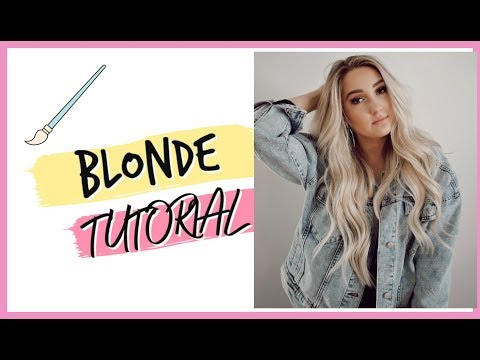 BLONDE TUTORIAL FOR A NEW SHADE IN MY EXTENSION LINE! thumbnail