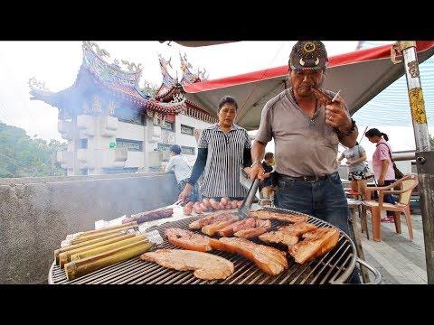 TAIWANESE BBQ - HUGE Wild Boar BBQ from Taiwanese ABORIGINAL in Chiayi, Taiwan