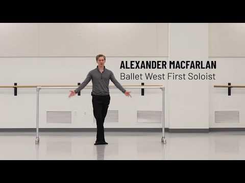 Ballet West Intermediate/Advanced Ballet taught by Alexander MacFarlan