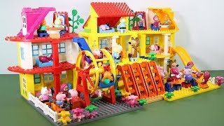 Peppa Pig Lego House With Water Slide Toys For Kids #8