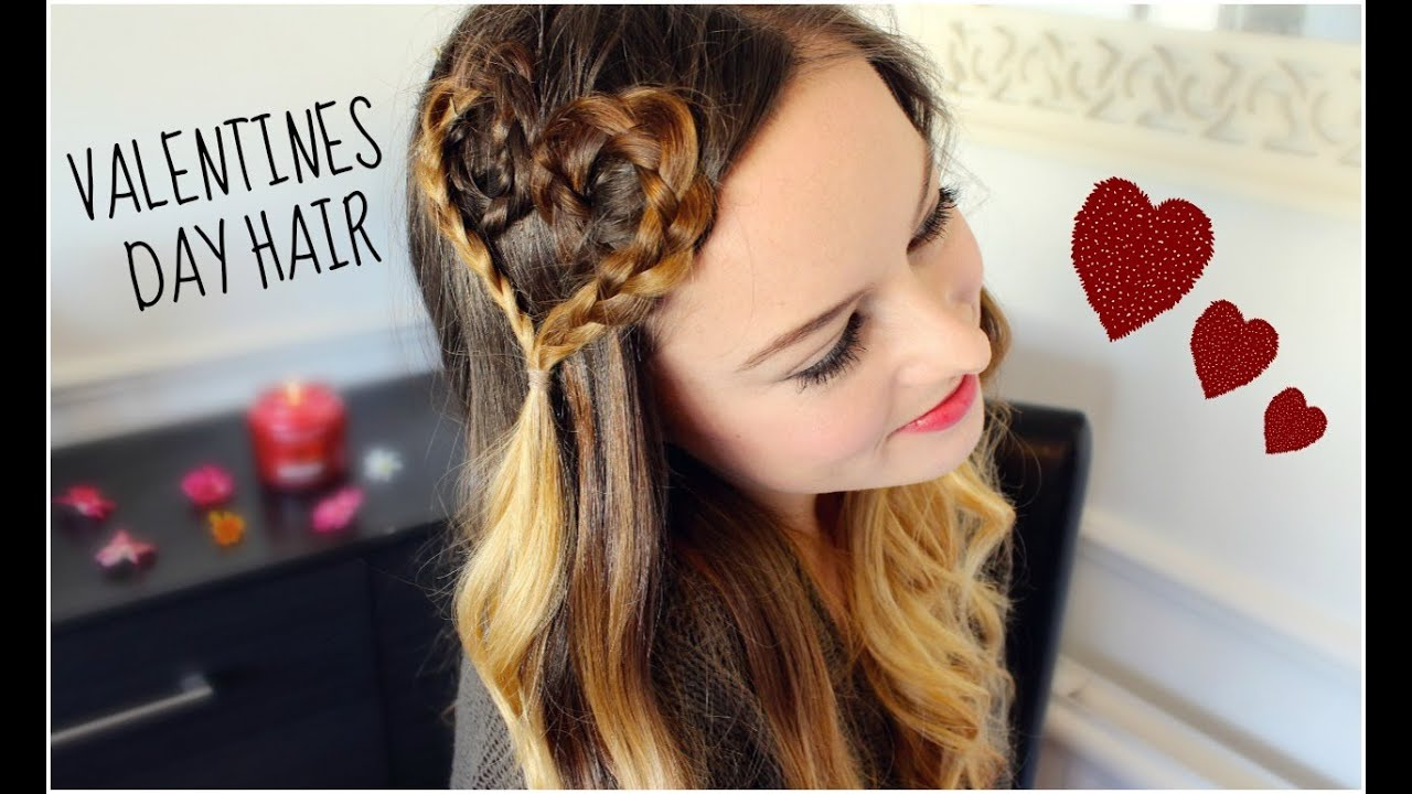 CUTE VALENTINES DAY HAIR TUTORIAL ♡