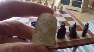 The Isle Of Lewis Large Mahogany Chess Set